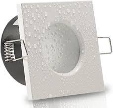 8er set 6 10er sets decken einbaustrahler bad aqua base ip65 quadratisch eckig 230v weiss 3 3w smd led warm weiß einbauleuchte für feuchtraum