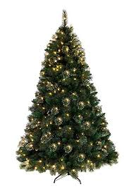 Real Feel Morning Dew White Pine Artificial Christmas Tree 7ft
