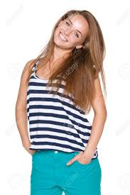 enjoyment positive teen in casual summer clothes with