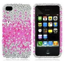 Amazon Pink & Crystal Rhinestone Case for iPhone 4 or 4S only