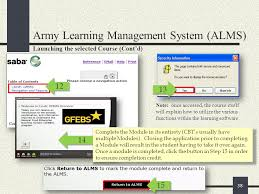 Army Alms Help Desk by Pre Deployment Training Requirements For Gfebs Provisioning Ppt