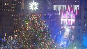 rockefeller center tree lights up for the 2016 season nbc new york
