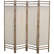 ubaymax paravent raumteiler trennwand 4 teiliger aus bambus faltbar holz spalier raumtrenner wandschirme sichtschutz für wohnung wohnzimmer