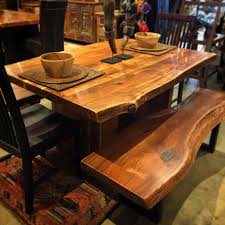 Live Edge Indian Rosewood Dining Table 60x40x30 2595 Bench 54x18x18 1049