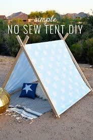 Simple No Sew DIY Kids Tent