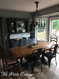 Make A Dining Room Table Lovely Trestle Painted In Annie Sloan Graphite Chalk Paint Of