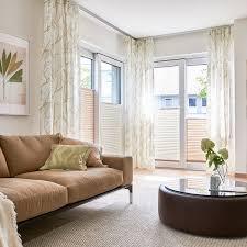 deko vorhang und plissee für ihr wohnzimmer