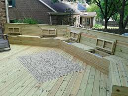 10 smart diy outdoor storage benchespool deck bench plans pool