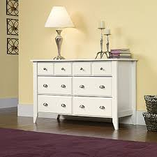 6 Drawer Dresser White by Sauder Shoal Creek 6 Drawer Oiled Oak Dresser 410287 The Home Depot