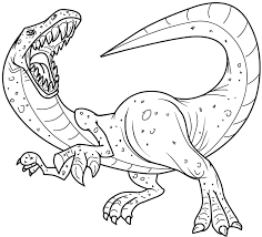 Printable Coloring Pages Dinosaurs On Images Free With Scary Dinosaur