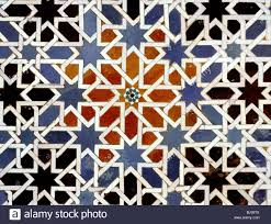 ceramic tiles from the alcazar of seville andalusia spain 14th