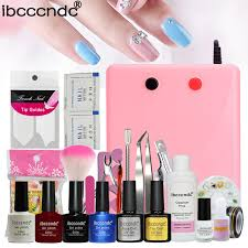 pro nail kit manucure gel 36w uv l 4 color uv gel varnish nail