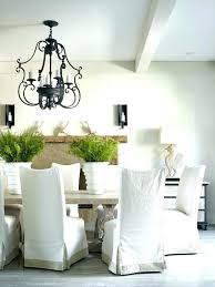 Kitchen Chair Slipcovers Dining Chairs Inside White Slipcover Idea 4 Seat