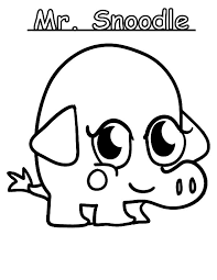 Moshi Monster Mr Snoodle Coloring Pages