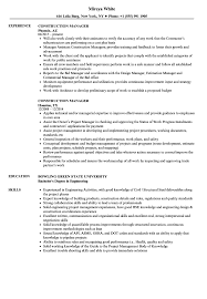 Download Construction Manager Resume Sample As Image File