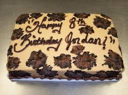 Square Leopard Print Birthday Cake