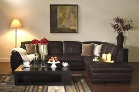diana dark brown leather sectional sofa set 10598