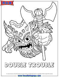 Skylanders Giants Magic Series2 Double Trouble Coloring Page