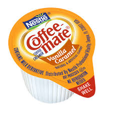 Coffee Mate Vanilla Caramel Liquid Creamer Singles 375 Fl Oz Tub