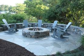 clever outdoor propane fire pit and stone bench along with menards