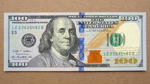 New 100 US Dollars Banknote Hundred Dollars USA 2009A Obverse