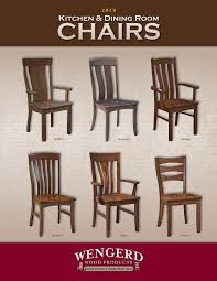 2018 Wengerd Wood Products - Chair Catalog / E&G Amish Furniture By ...