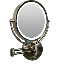 epic wall mounted lighted magnifying mirror 10x 67 with additional