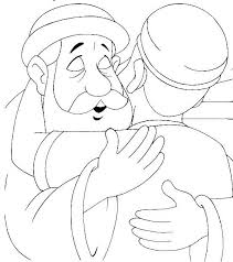 The Prodigal Son Embraced By His Father Luke Coloring Page Kids Bible