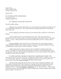 Letter Writing Sample for Grandparent Custody Possession Visitation…