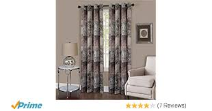 achim home furnishings vgpn84br06 vogue grommet window