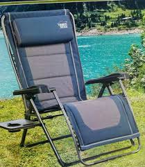 Timber Ridge Folding Lounge Chair by Timber Ridge Zero Gravity Chair With Side Table Table Designs