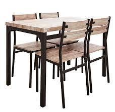 table et 4 chaises base table avec 4 chaises brun produits feelgood pour la maison et