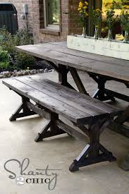 Rustic Picnic Table Bench To Look Like Anthropologie This DIY Site For Knock Off Projects Has Tons Of Inspiration We Had A Built