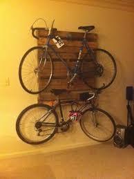 Matt With Another Masterpiece Pallet Bike Rack