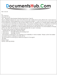 Reschedule Meeting Email Template By Request Letter For Rescheduled Appointment