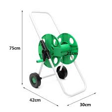 Portable Water Hose Pipe Rack Garden Watering Trolley ABS Metal Car ...