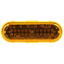 100 Strobe Light For Trucks Super 60 LED 36 Diode Oval Yellow Class II Metalized
