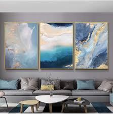 abstrakte leinwand malerei moderne wandkunst marmor bild poster und drucke wohnzimmer dekor 50x70cmx3 stück kein rahmen