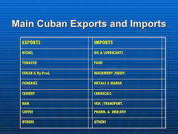 8 Main Cuban Exports