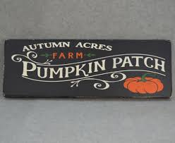 Glendale Pumpkin Patch by Rustic Autumn Acres Farms Pumpkin Patch Wood Sign Fall Halloween