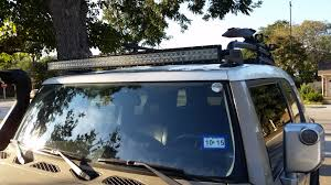 Has anyone installed a 52 inch curved light bar Toyota FJ