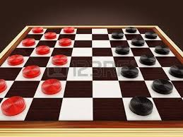 Board Game Pieces Checkers And 3D Illustration Stock Photo