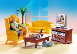 playmobil dollhouse wohnzimmer mit feuer