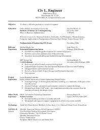 confortable resume engineering internship sle on civil engineer