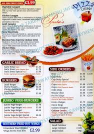 Pizza Cottage Takeaway Menu PIZZA LEICESTER TakeawayMenufo
