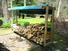 Firewood Bins Outdoor Wood Storage Firewood Rack With Roof Image
