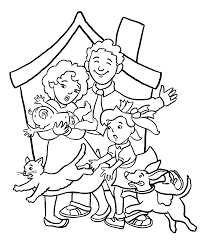 Astounding Family Coloring Pages Printable With And