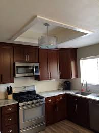 wunderbar replace fluorescent light fixture in kitchen lighting