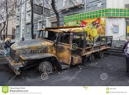 100 Burnt Truck Burned In The Center Of Kiev Editorial Photo Image Of Maydan