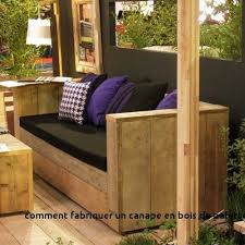 fabriquer un canapé en bois comment fabriquer un canape en bois de palette awesome salon de